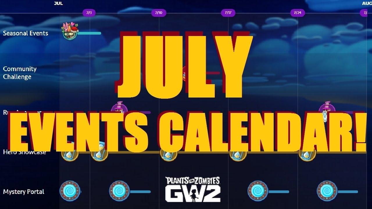 Garden Warfare 2 Events | Calendar For Planning Pvz Gw2 Event Calendar June 2021