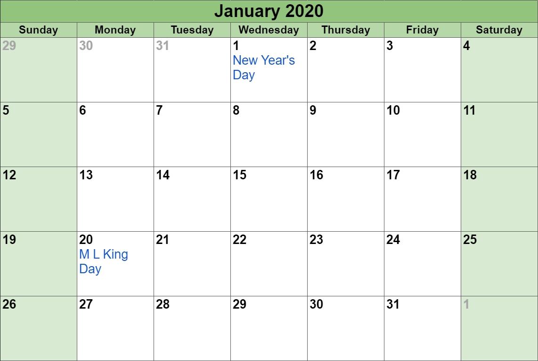 Google Sheets Calendar Template 2020 Landscape Mode Calendar Template Mac 10.14