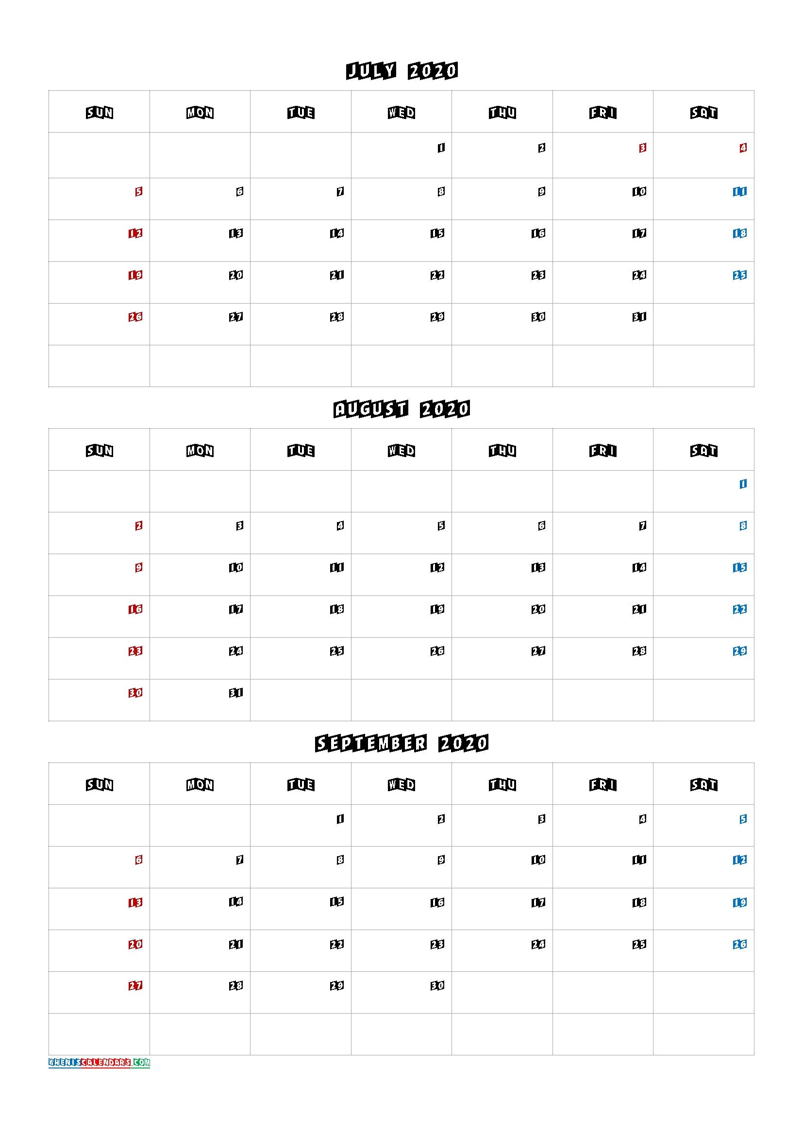 July August September 2021 Three Month Calendar Printable Last 3 Month Of 2021 Calendar