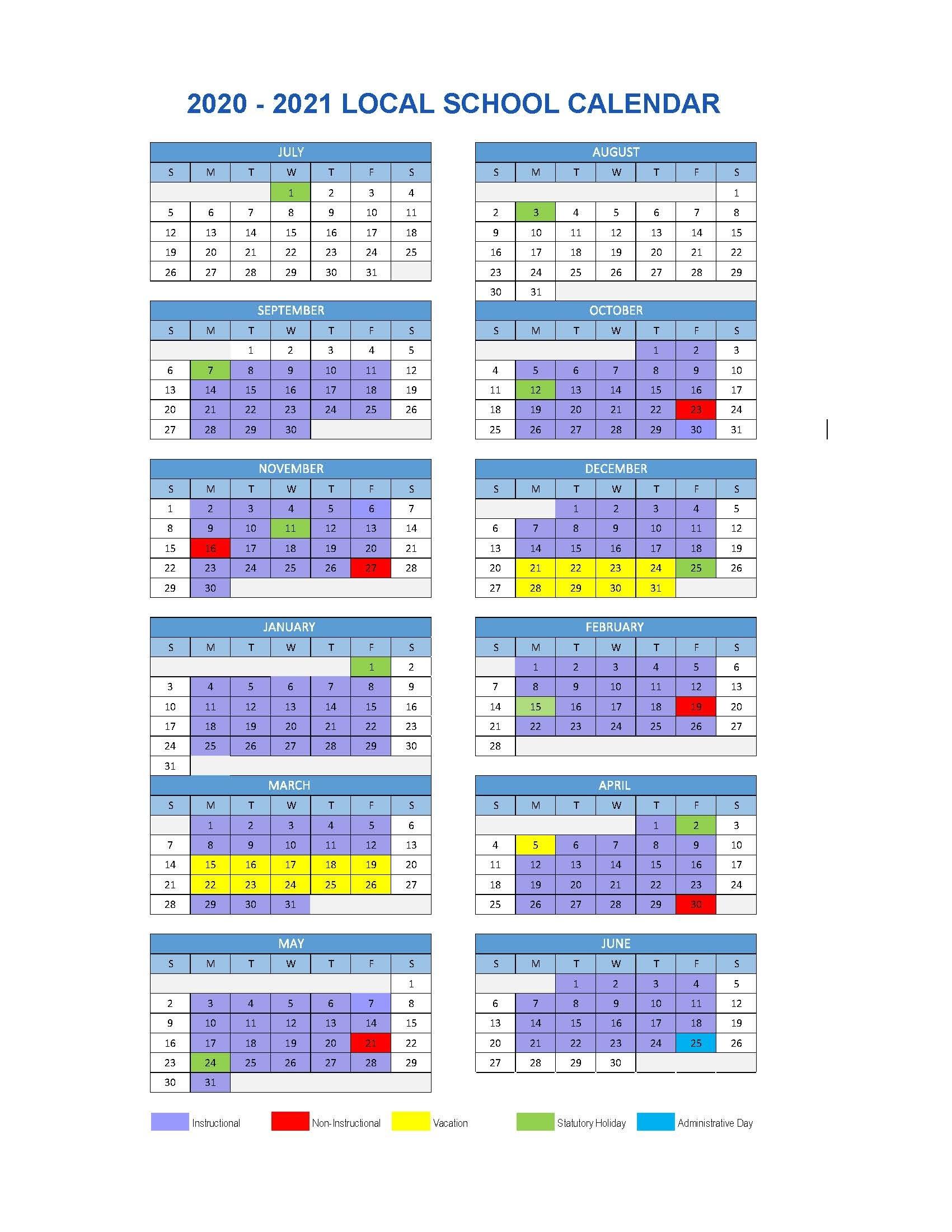 Local School Calendar 2020/2021 | Chilliwack School District #33 2021 Myanmar Calendar Microsoft Office