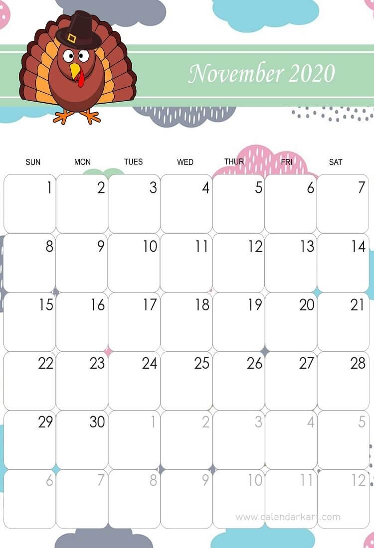 November 2020 Calendar Black Friday Theme In 2020 | Cute November Calendar Template Kindergarten