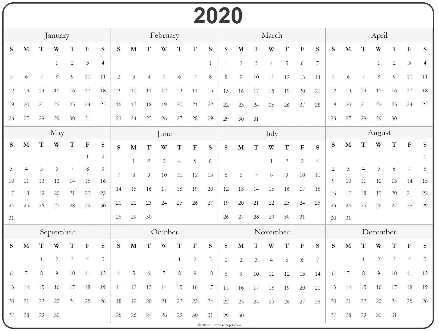 Today, It Is Vital To Produce A Timetable Before Starting Year Long Calendar Template