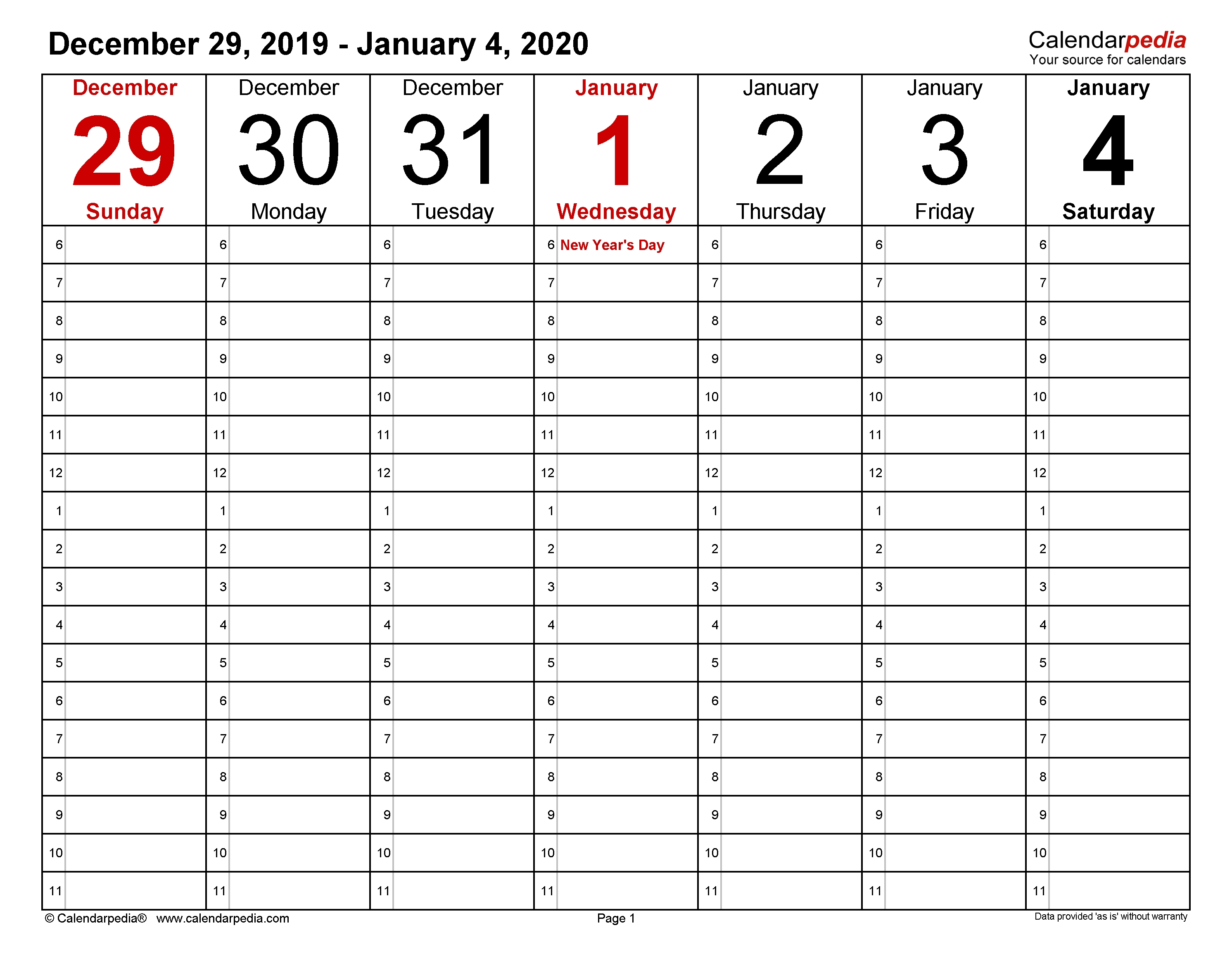 Weekly Calendars 2020 For Pdf - 12 Free Printable Templates 3 Week Calendar Template