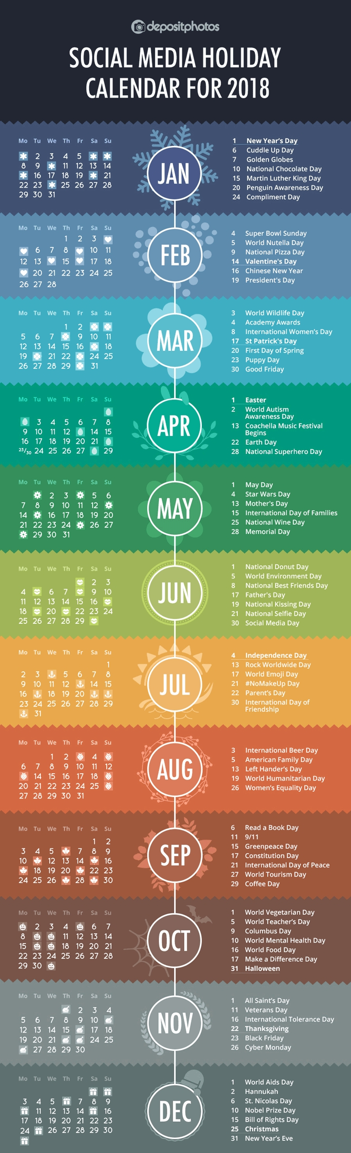 100+ Social Media Holidays You Need In 2020-21: Indispensable! National Awareness Calendar For 2021