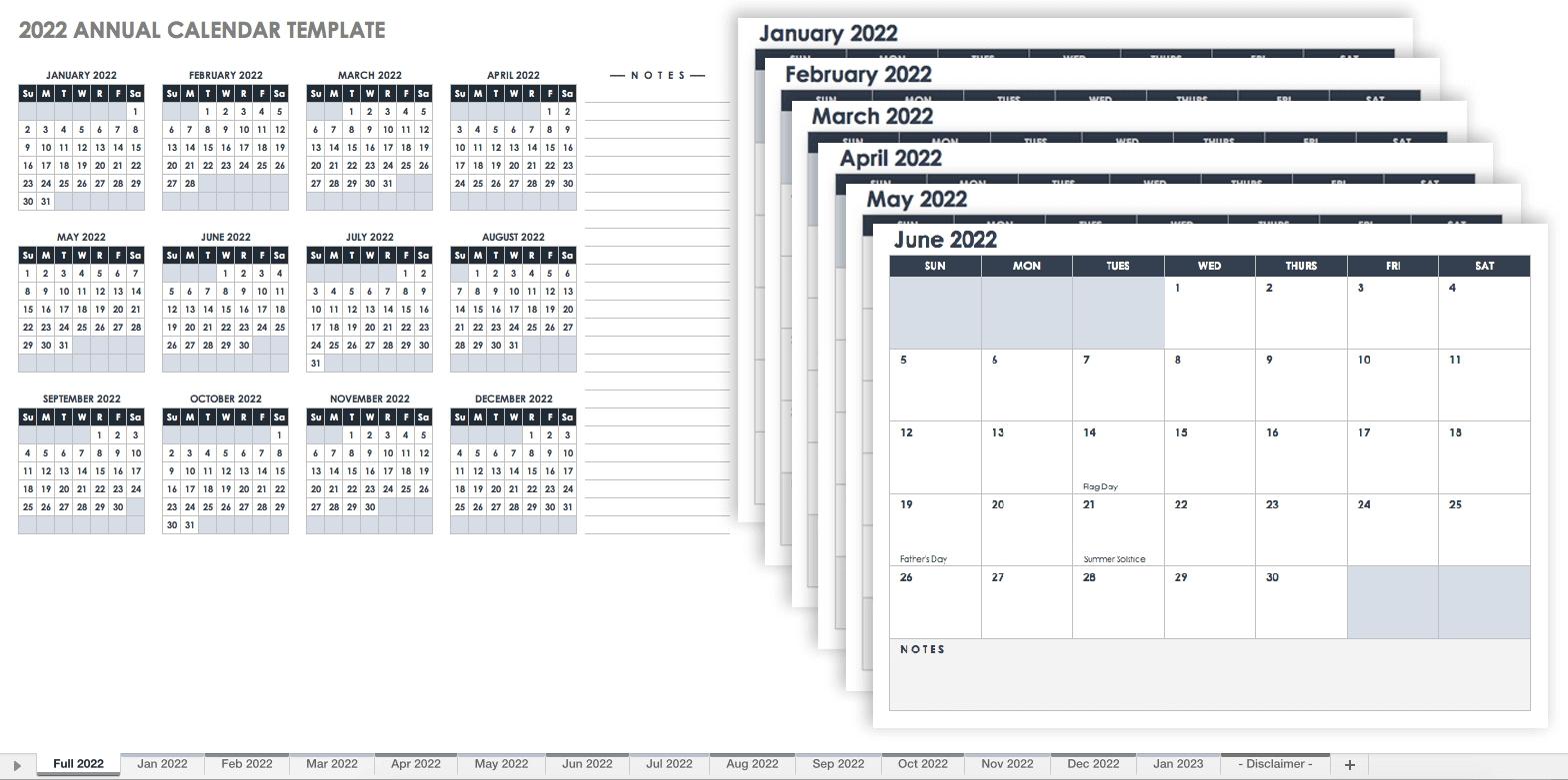 15 Free Monthly Calendar Templates | Smartsheet Print Ready Calendar Template
