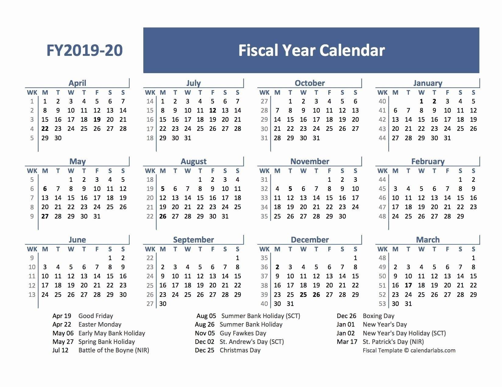 2019 Fiscal Calendar 4 4 5 | Fiscal Calendar, Printable Calendar 4 4 5 Template