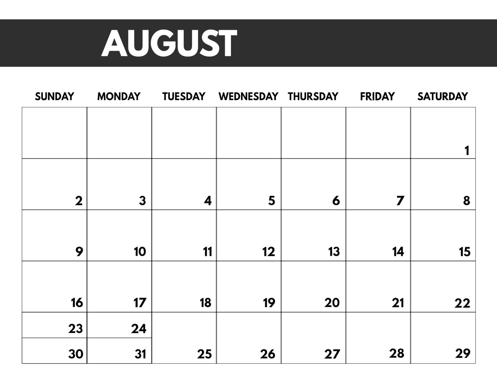 2020 Free Monthly Calendar Template | Paper Trail Design Calendar Template To Print Free