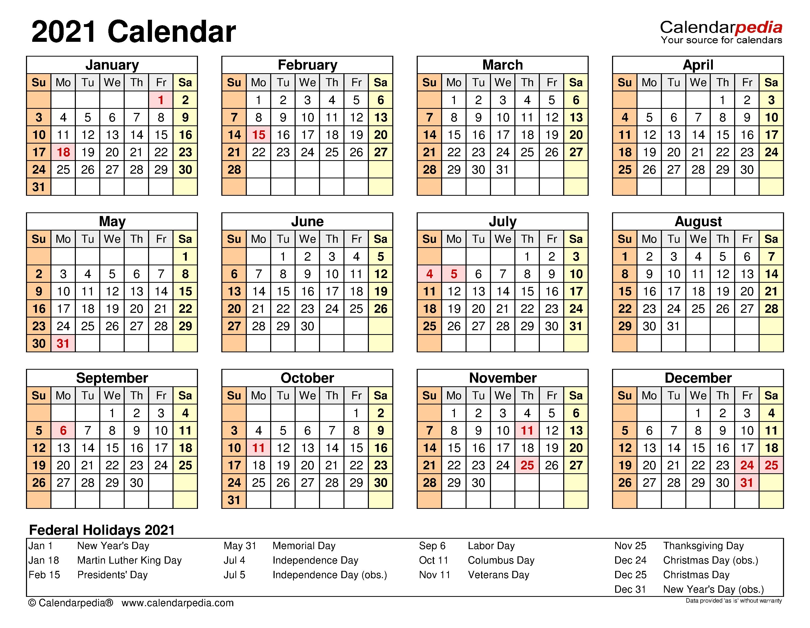2021 Calendar - Free Printable Excel Templates - Calendarpedia 2021 Lined Calendar Printable Excel