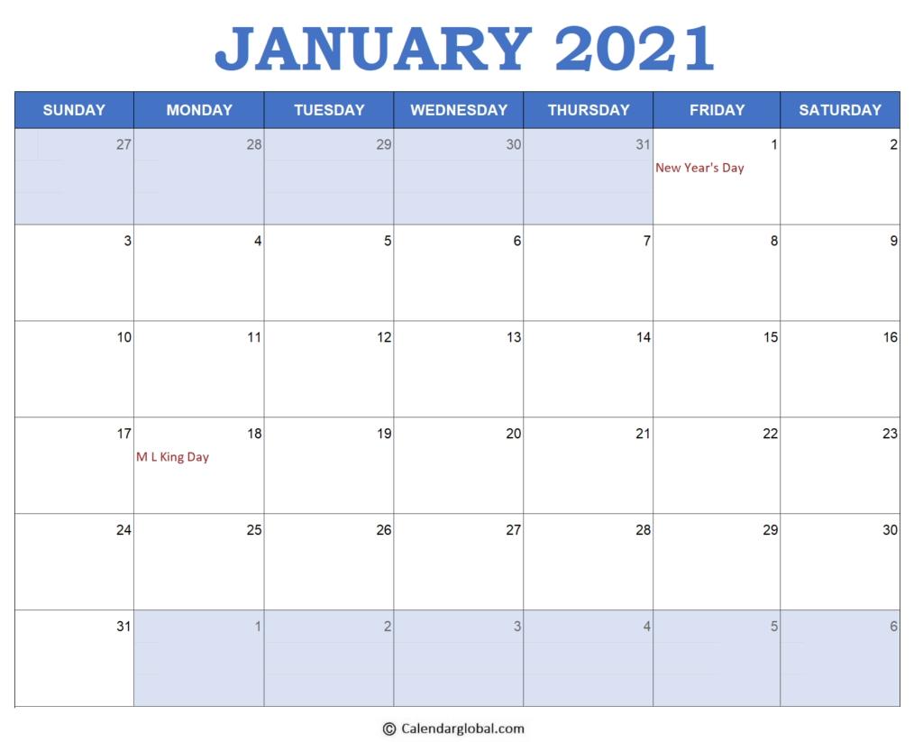 2021 Excel Calendar Templates: Free Printable Monthly 2021 Lined Calendar Printable Excel
