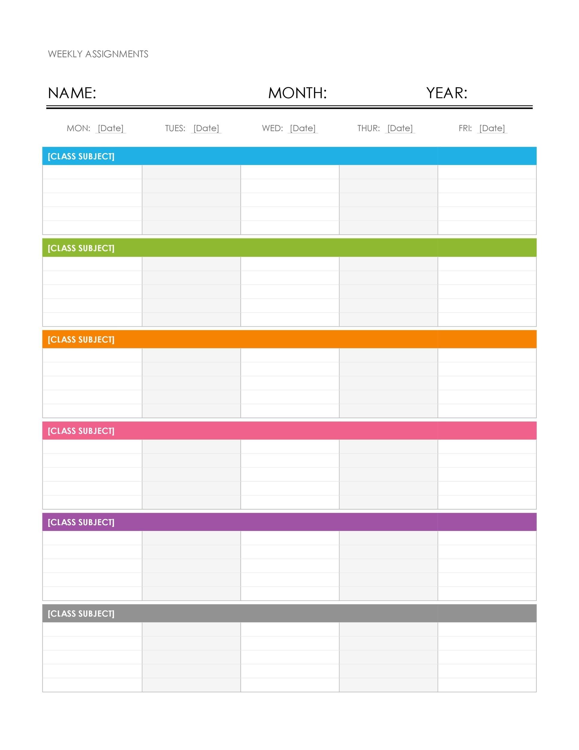 26 Blank Weekly Calendar Templates [Pdf, Excel, Word] ᐅ 7 Day Calendar Template Free