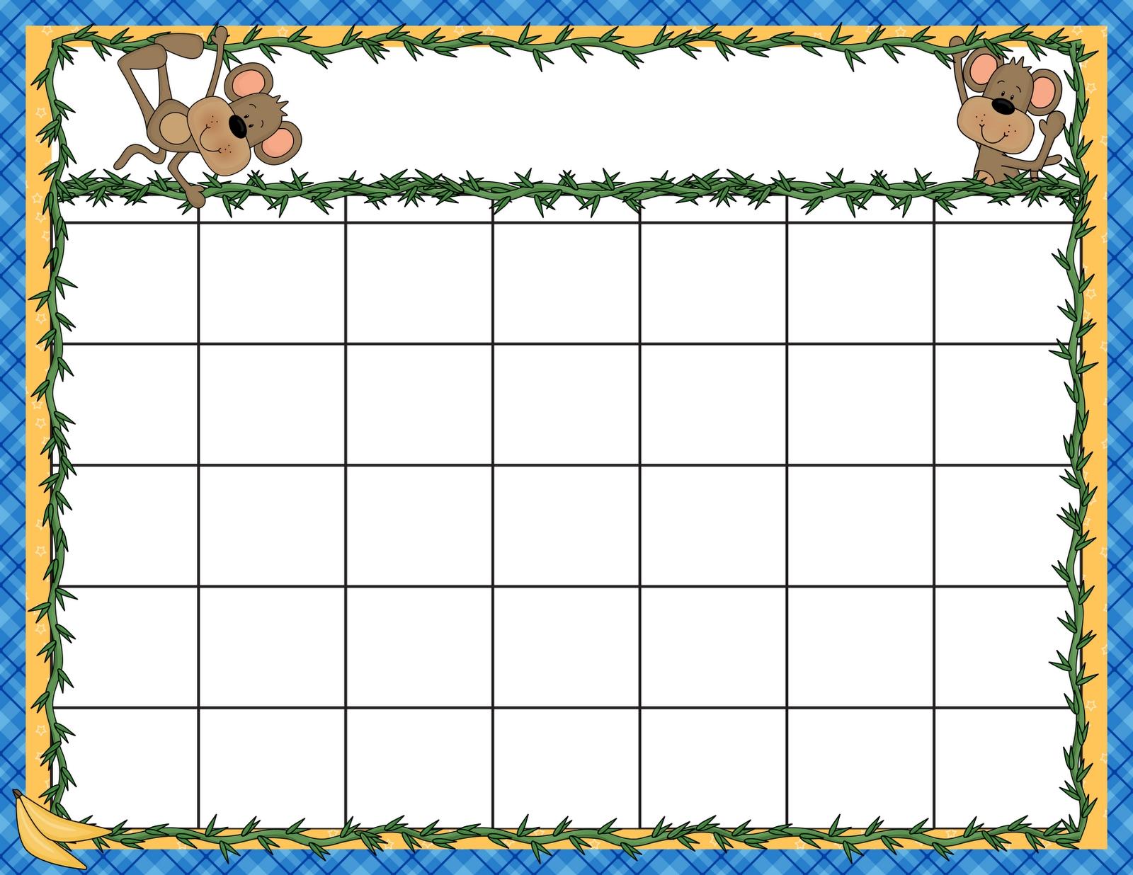 7 Best Kindergarten Monthly Calendar Printable - Printablee Printable Kindergarten Calendar Template