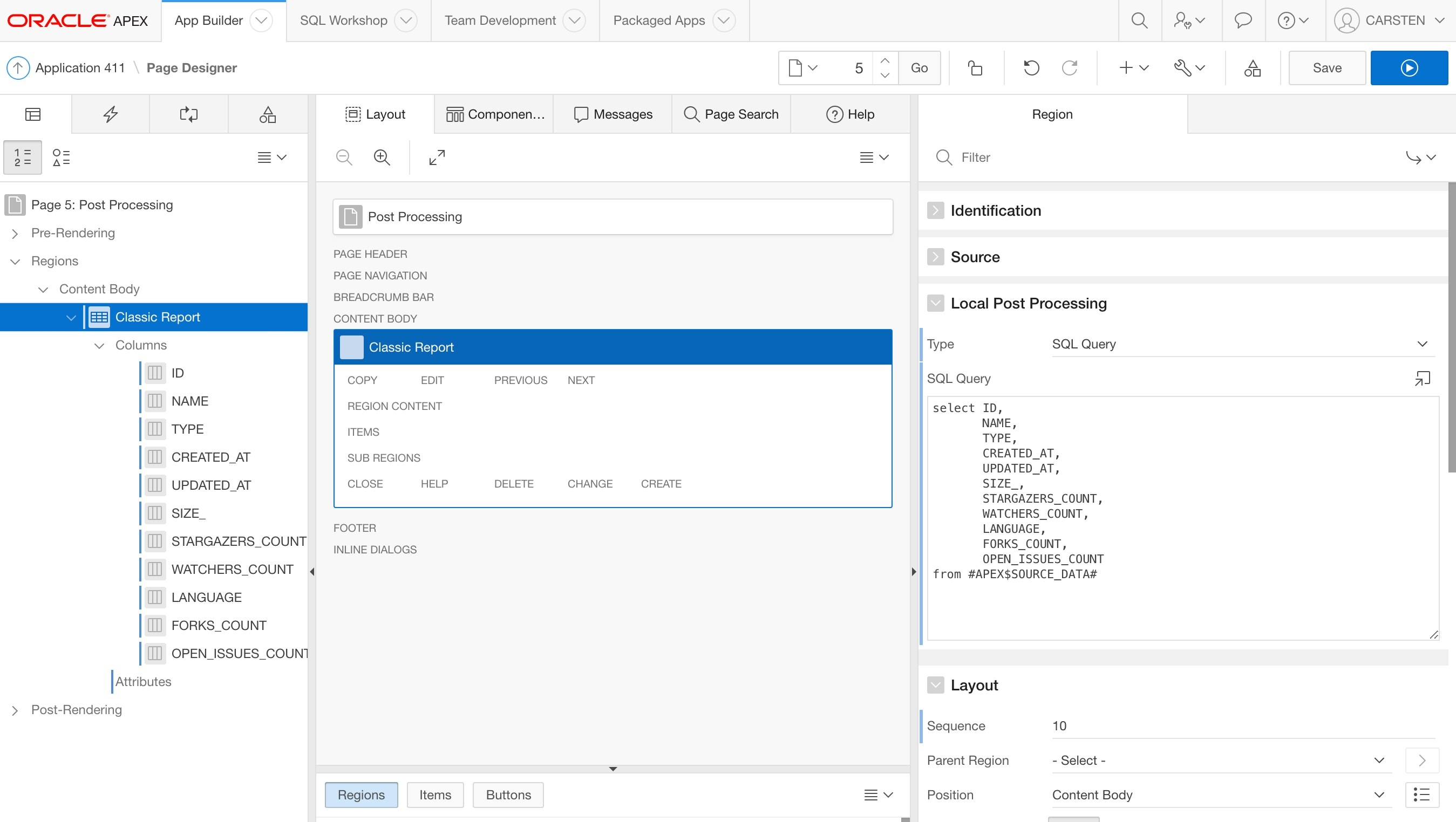 Apex 18.1 Early Adopter 2: Post-Process Rest Service Queries Apex 5 Calendar Template