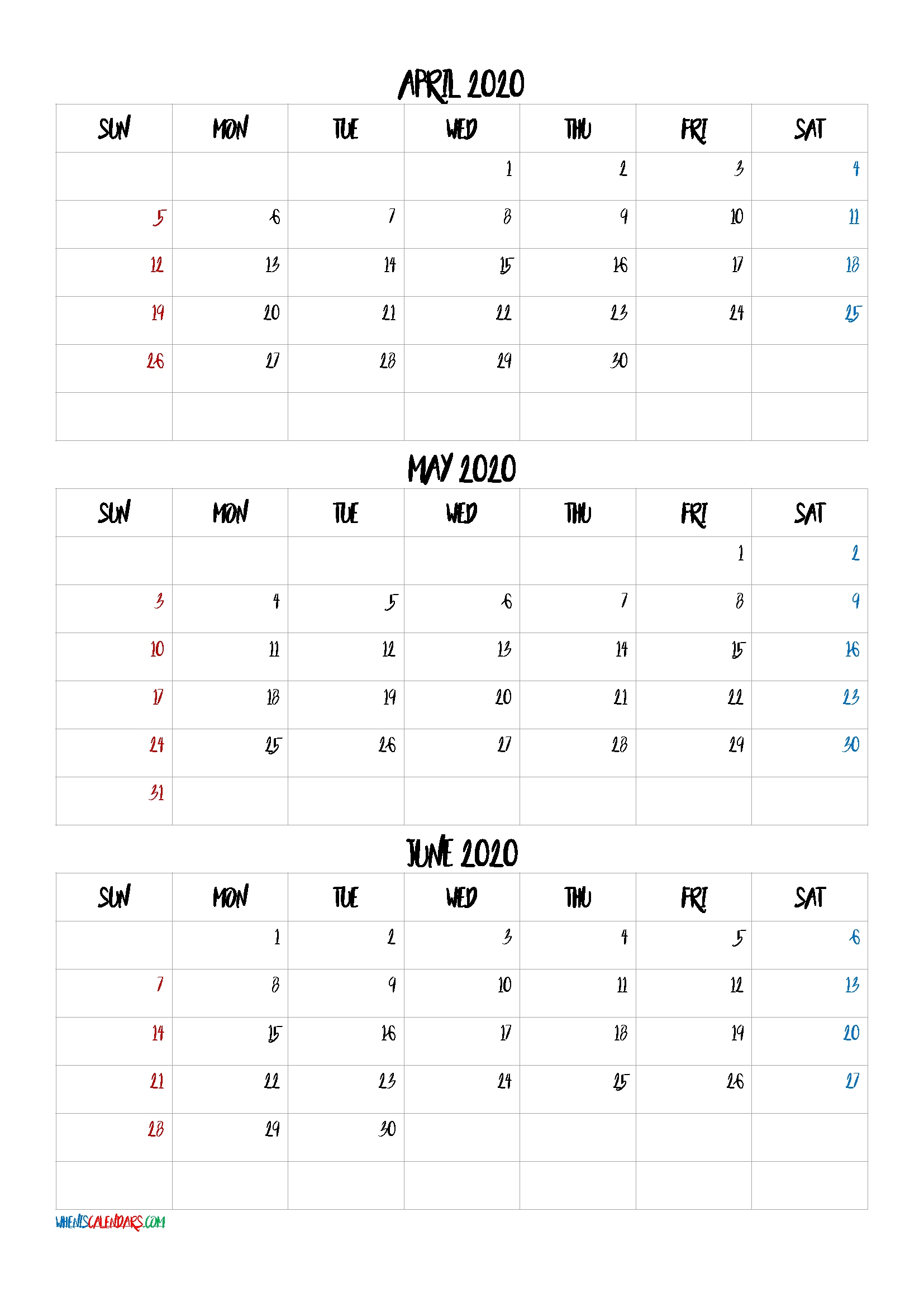 April May June 2021 Three Month Calendar Printable-No.m21Bb4 3 Month Calendar 2021
