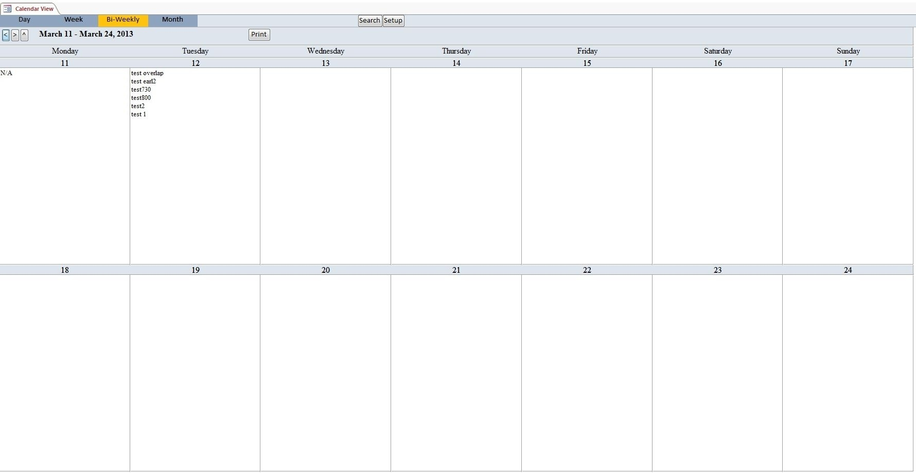 Bi-Weekly+Calendar+Template | Excel Calendar Template Calendar Template Week View