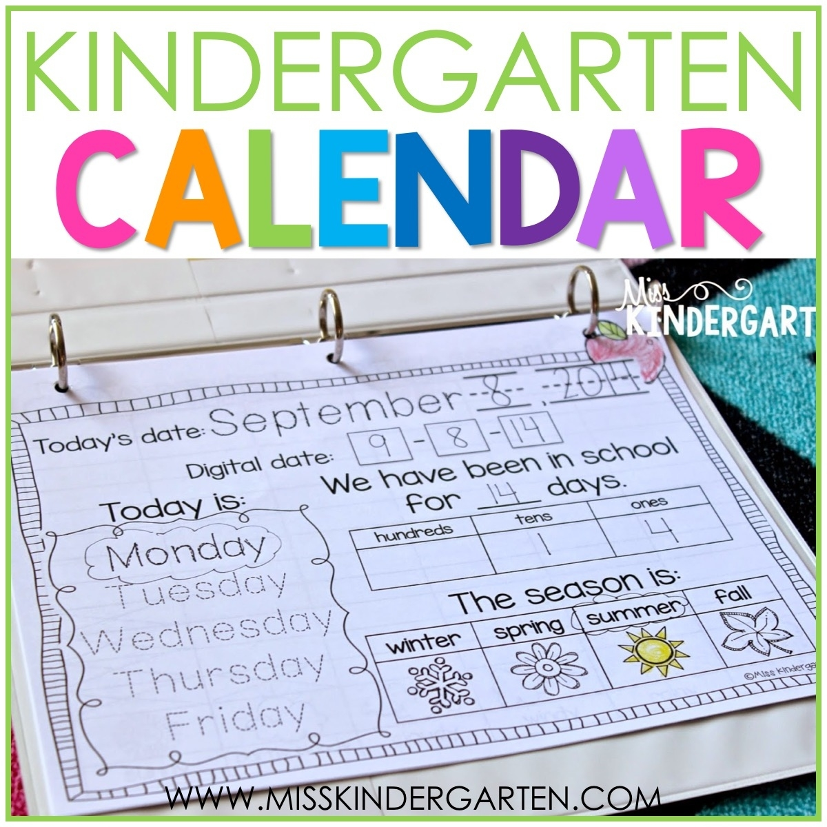 Calendar Time In Kindergarten - Miss Kindergarten Printable Kindergarten Calendar Template
