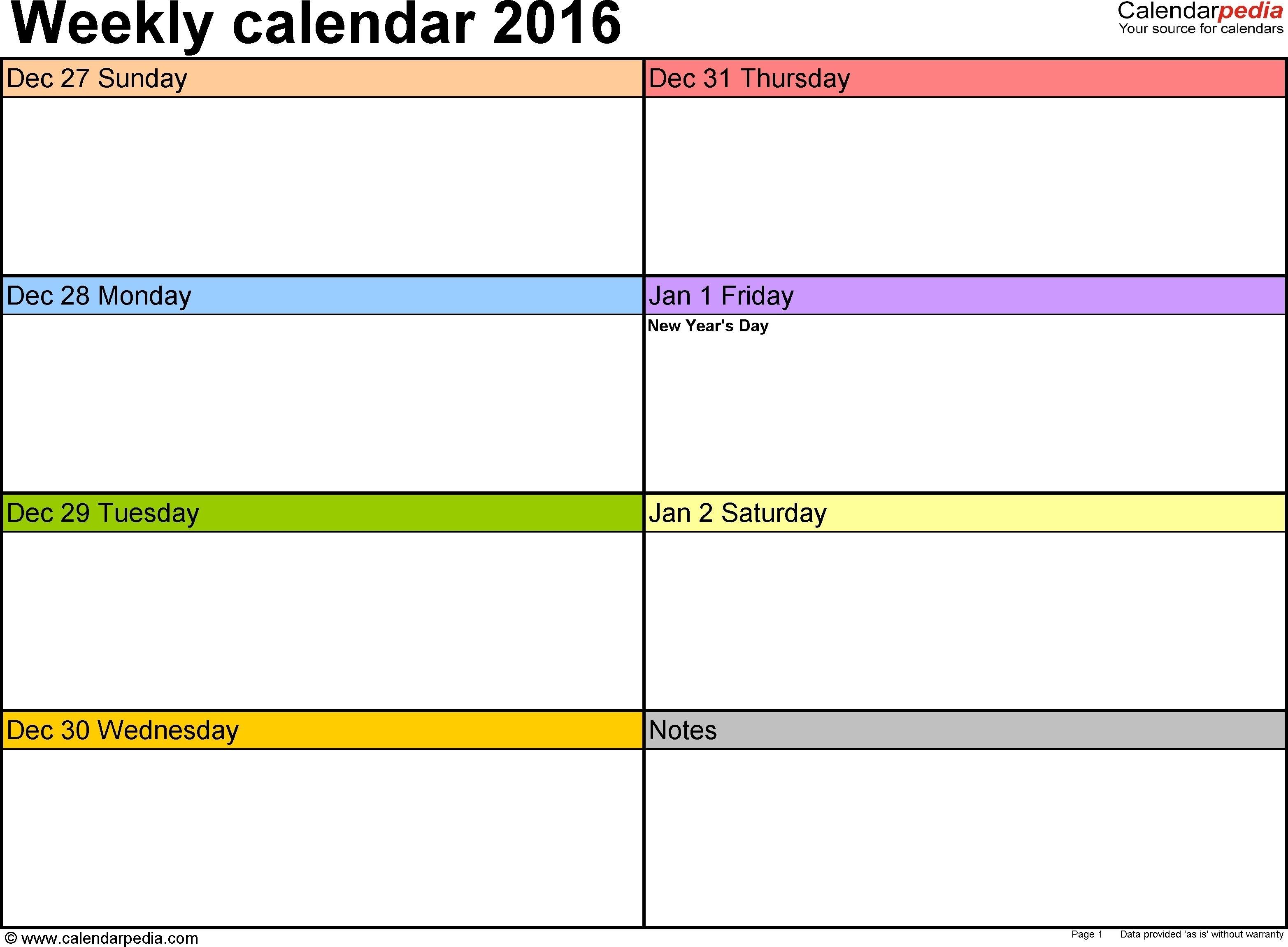Calendar Week To View Template | Weekly Calendar Template Calendar Template Week View