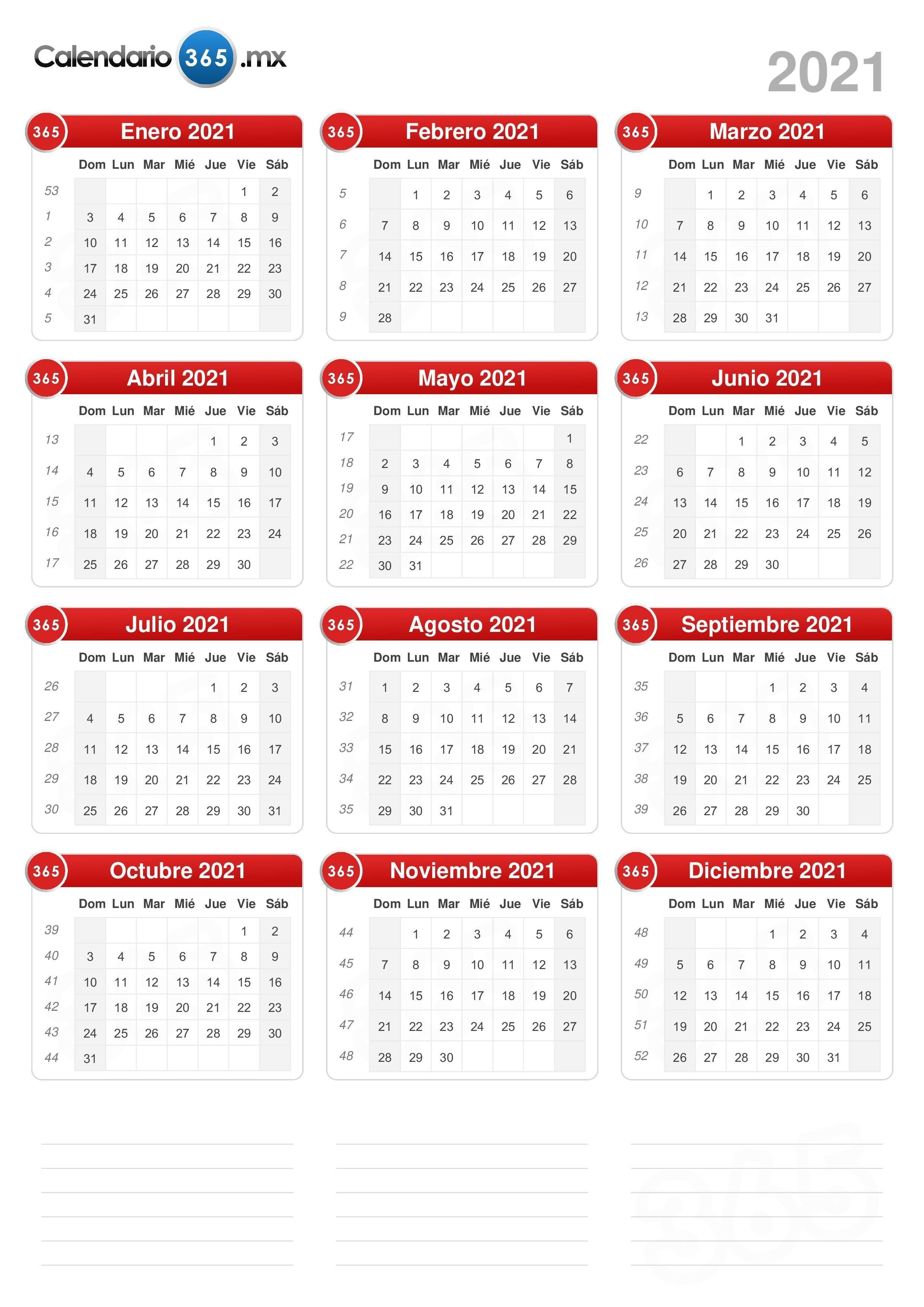 Calendario 2021 Calendario Juliano 2021