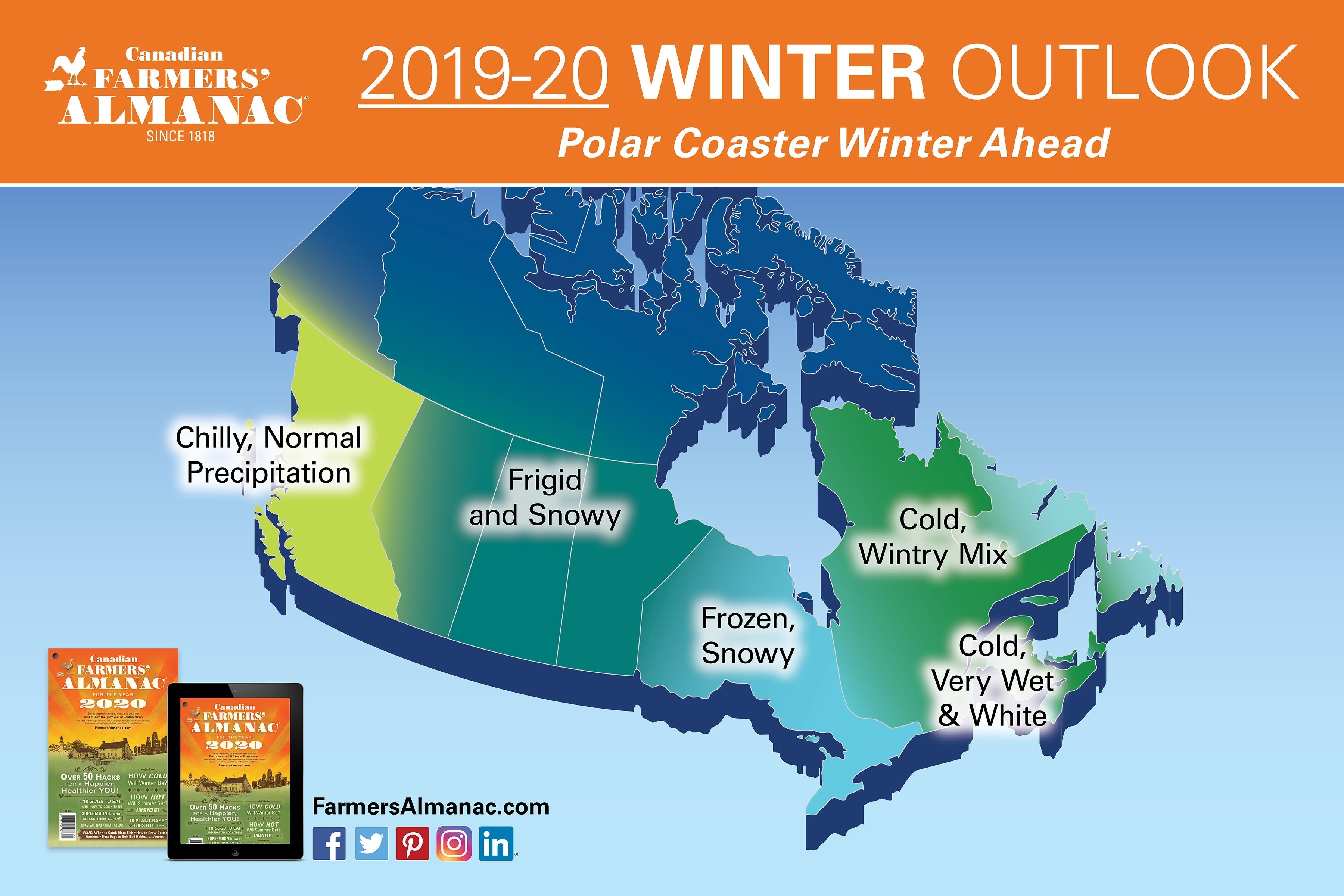 Canada'S 2021 Extended Forecast: A Winter Divided - Farmers Zodiac Calendar Farmers Almanac