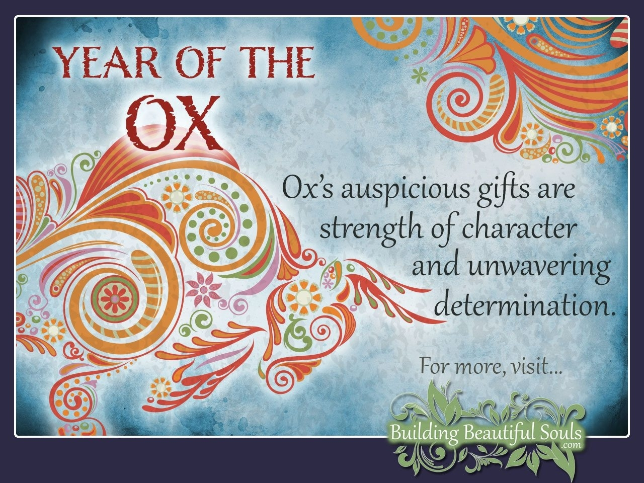 Chinese Zodiac Ox | Year Of The Ox | Chinese Zodiac Signs Chinese Zodiac Calendar Ox