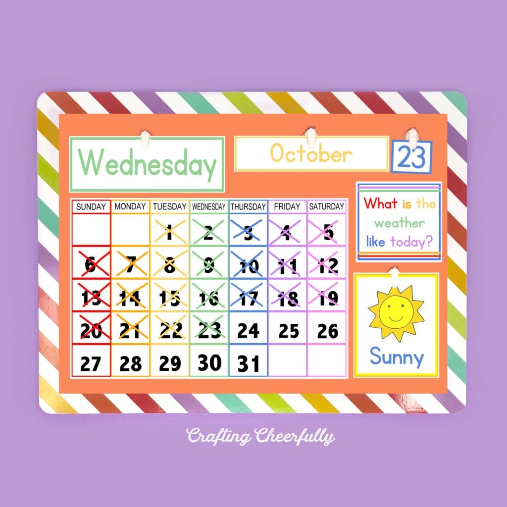Diy Children'S Calendar. How To Create A Handmade Calendar Pre K Calendar Template