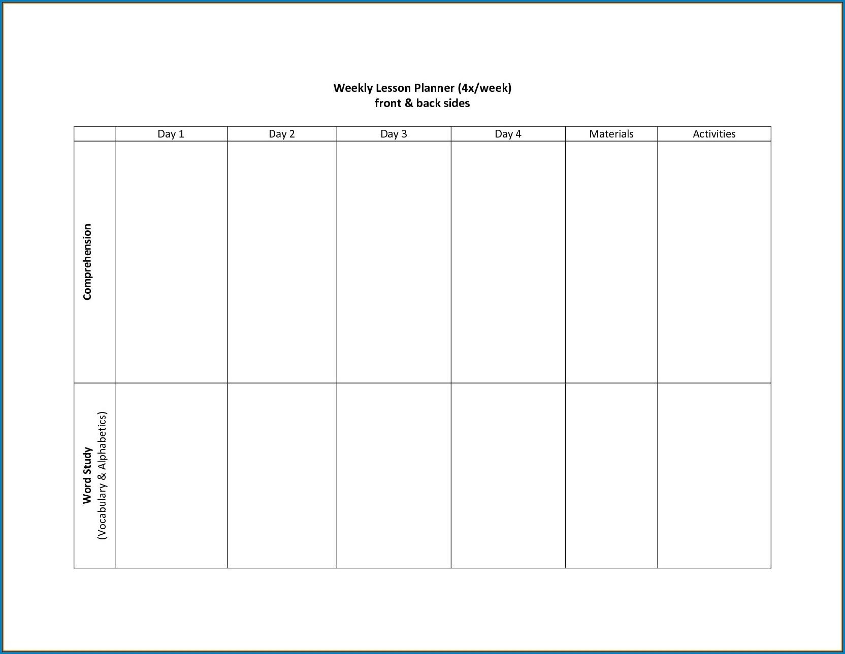 √ Free Printable 2 Week Calendar Template | Templateral Calendar Template 4 Weeks