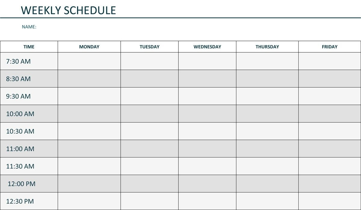 Editable Weekly Schedule Template In Word | Weekly Lesson 9 Day Calendar Template