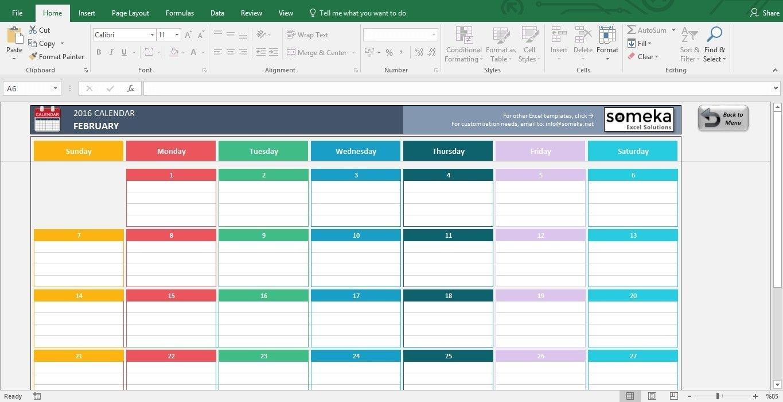 Excel Calendar Template 2019 Free Printable Calendar Make A A Calendar Template For Excel