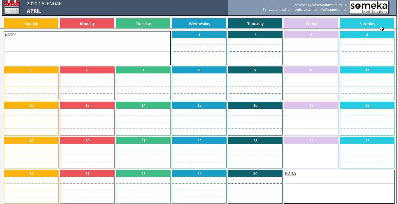 Excel Calendar Template Calendar Template On Excel