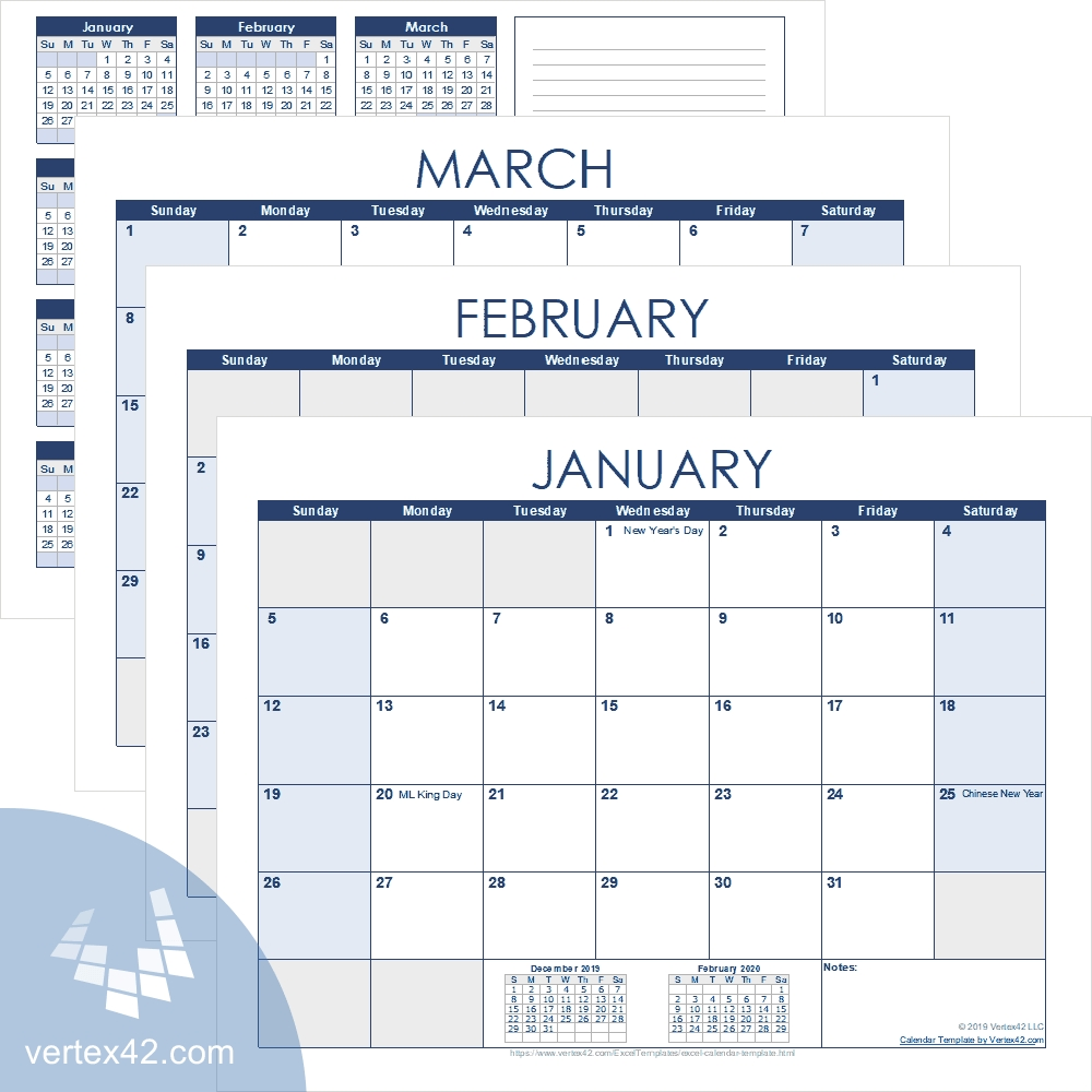 Excel Calendar Template For 2021 And Beyond 5 Year Calendar Template Excel