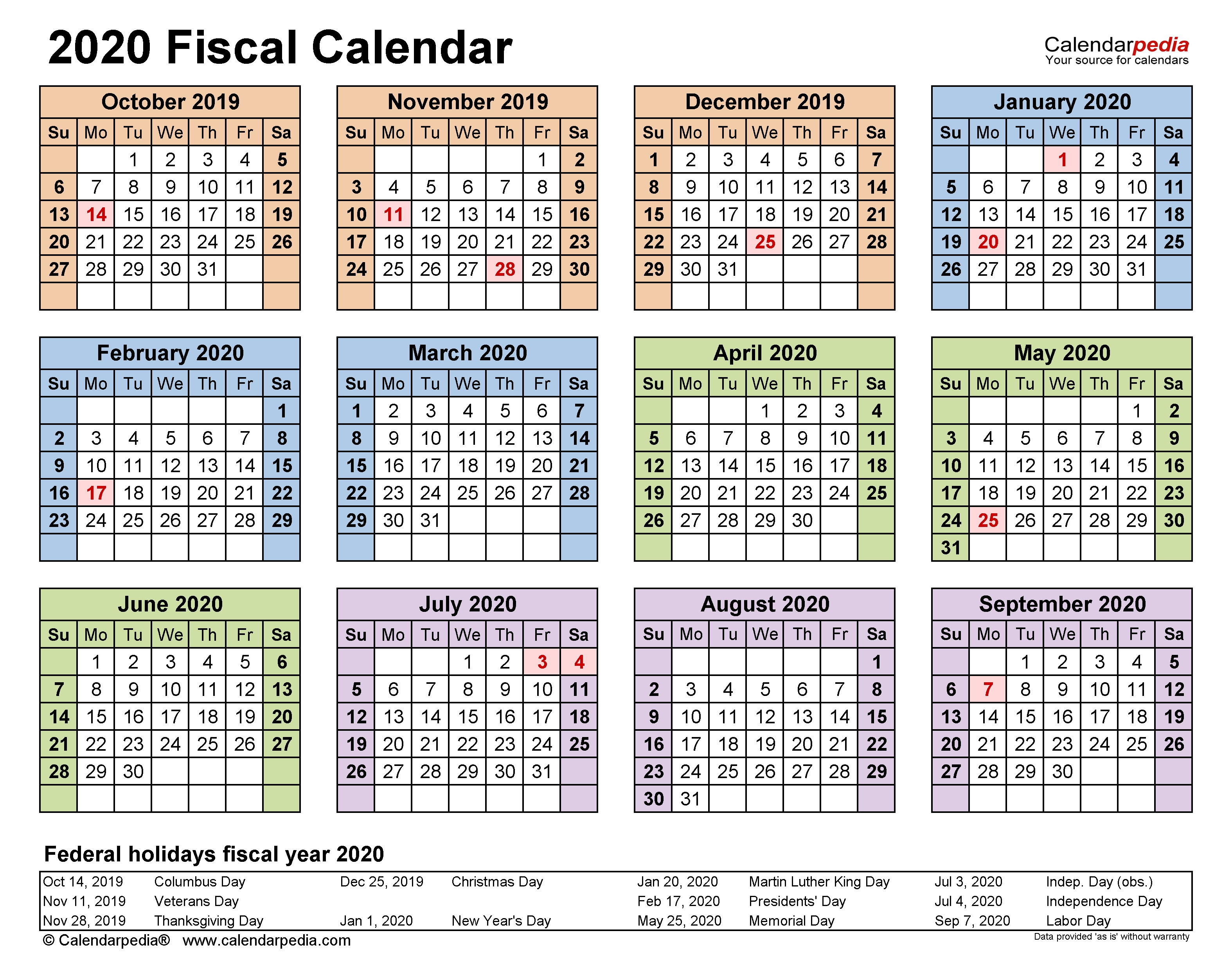 Fiscal Calendars 2020 - Free Printable Pdf Templates Calendar 4 4 5 Template