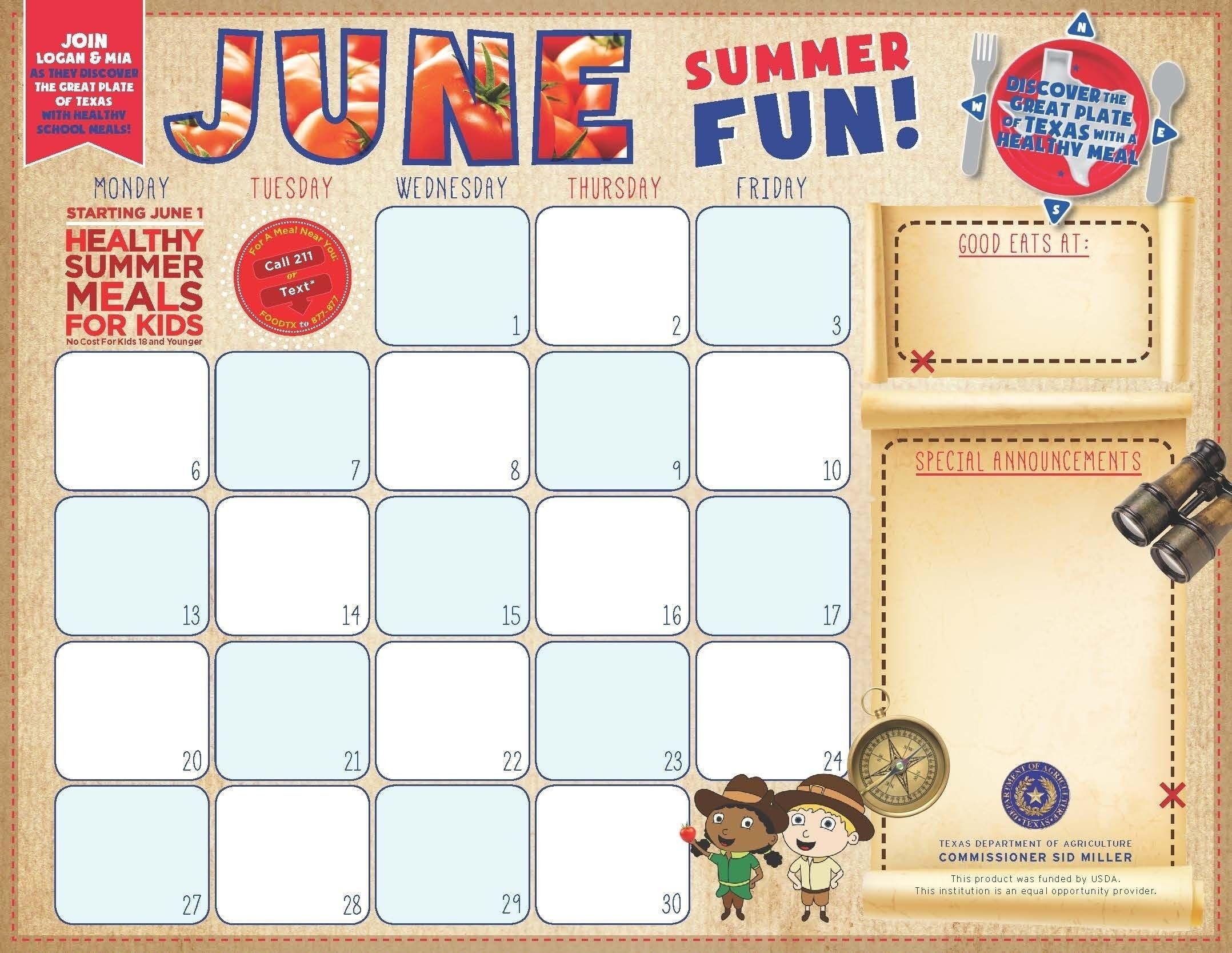 F&N Menu Calendar Templates Free, #Calendar #Fampn #Free F&N Menu Calendar Templates
