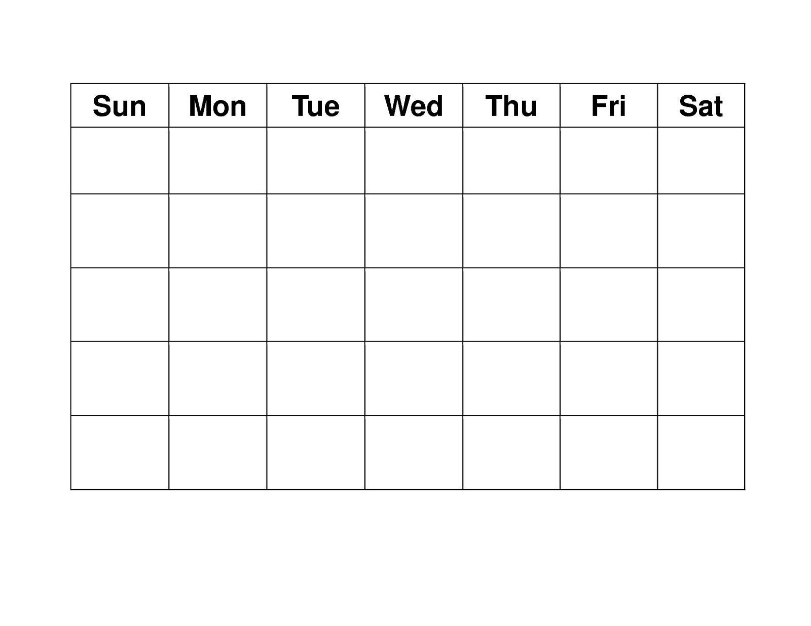 Free 4 Week Blank Calender Template | Blank Weekly Calendar Calendar Template 4 Weeks