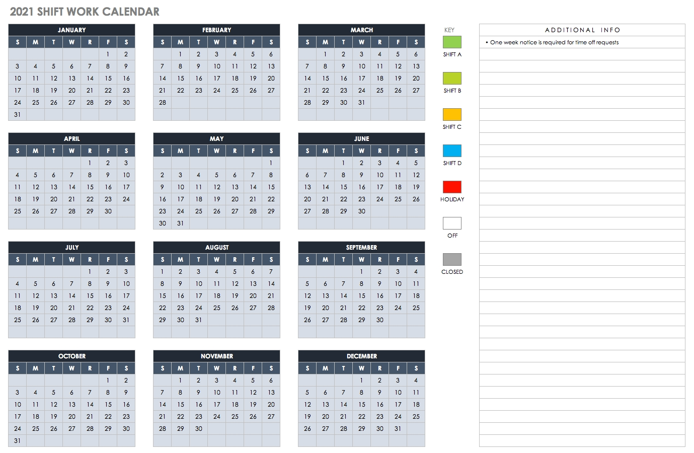 Free Excel Calendar Templates Calendar 4 4 5 Template