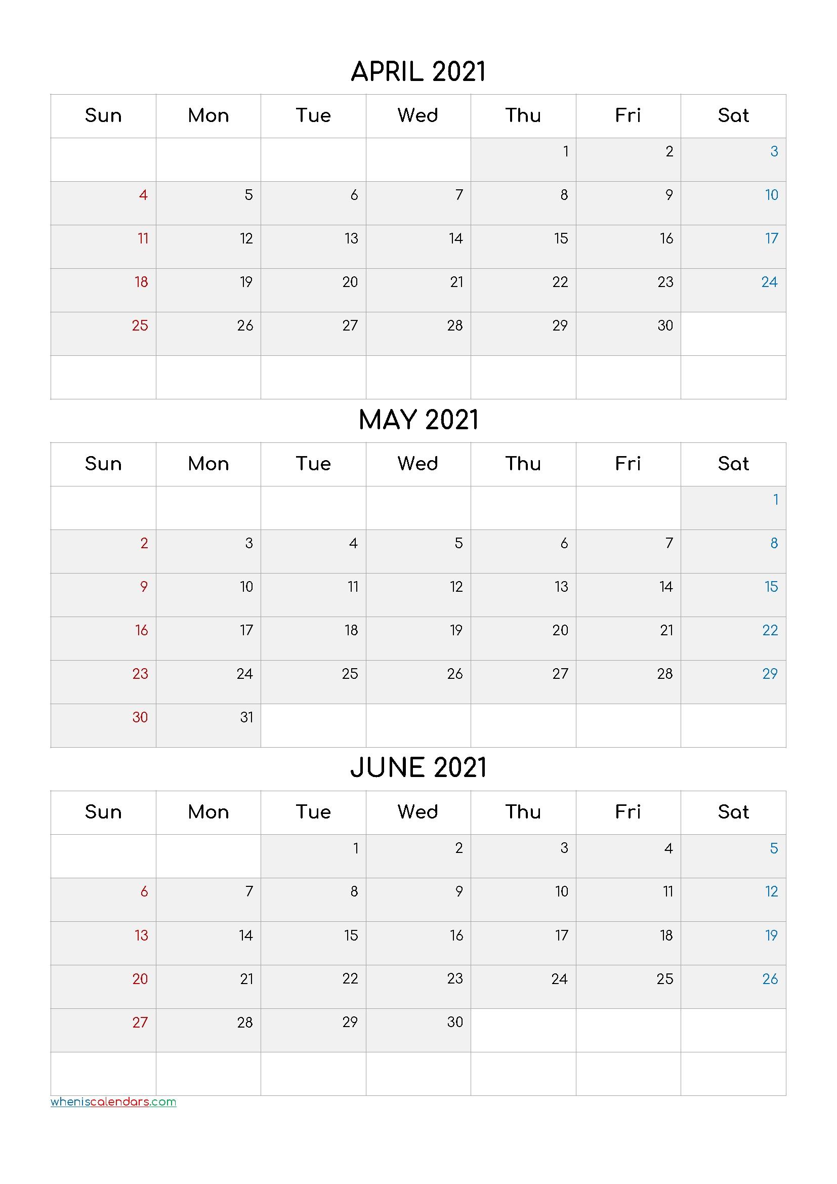 Free January February March 2021 Calendar [Q1-Q2-Q3-Q4 Q4 Calendar 2021