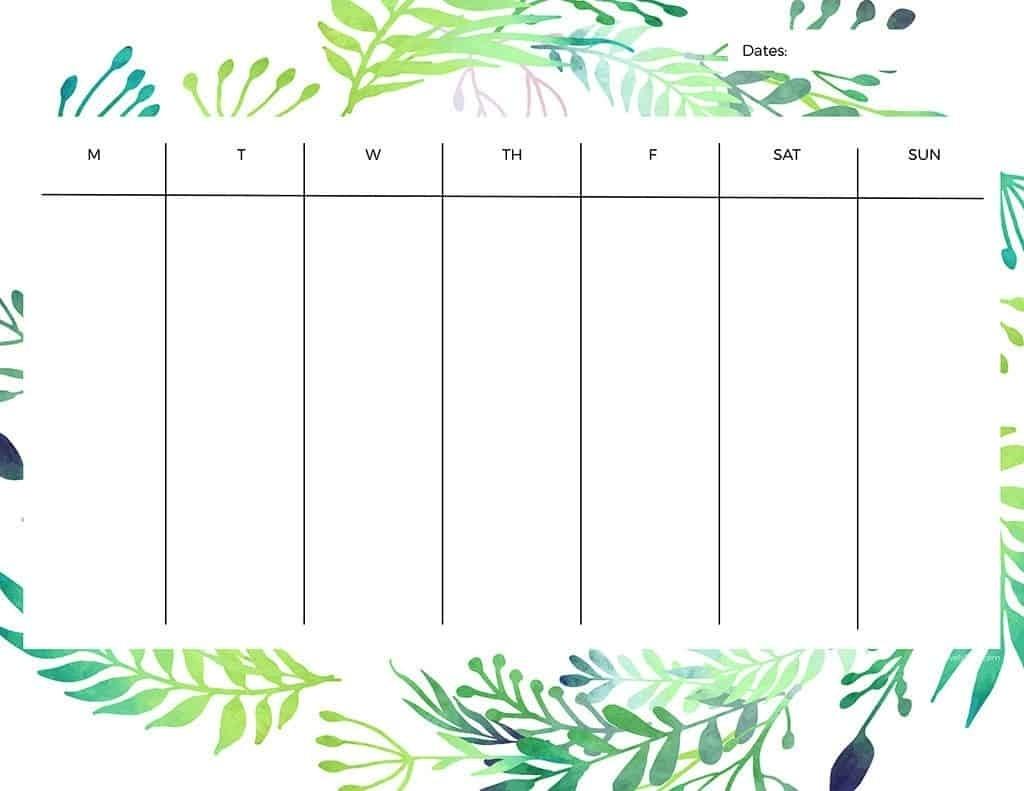 Free Printable Weekly Calendars — Get Your Week Organized! Calendar Template One Week