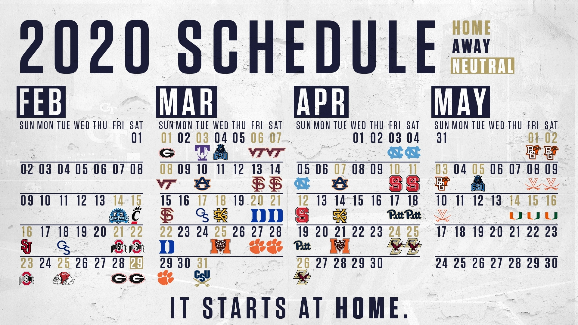Georgia Tech Yellow Jackets   Official Athletic Site Atlanta Braves Printable Schedule Calendar 2021