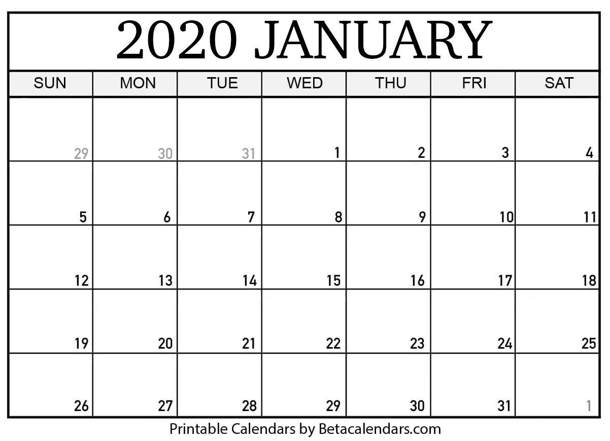 If You Download Your January 2020 Calendar Template, You Print Ready Calendar Template