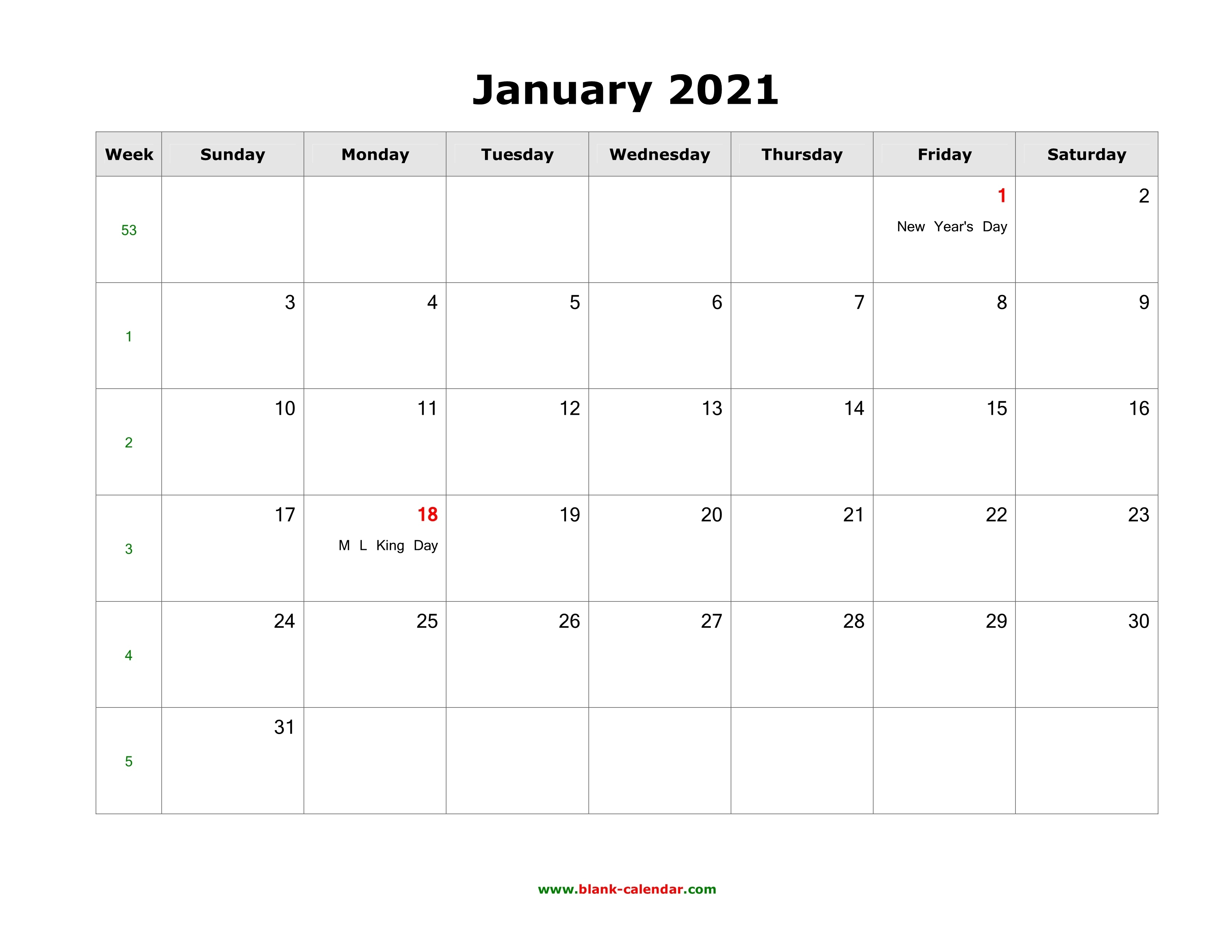 January 2021 Blank Calendar   Free Download Calendar Templates Free Calendars 2021 Word Doc Printable August