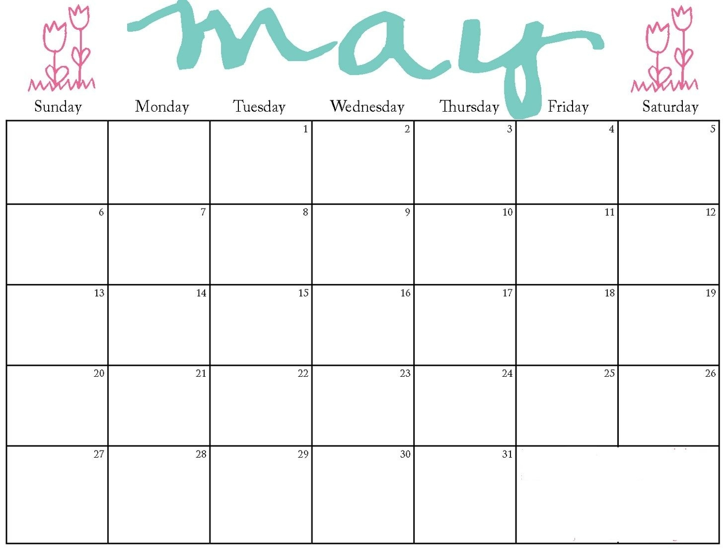 May 2018 Kg Kids Calendar | Kindergarten Calendar, Printable Printable Kindergarten Calendar Template