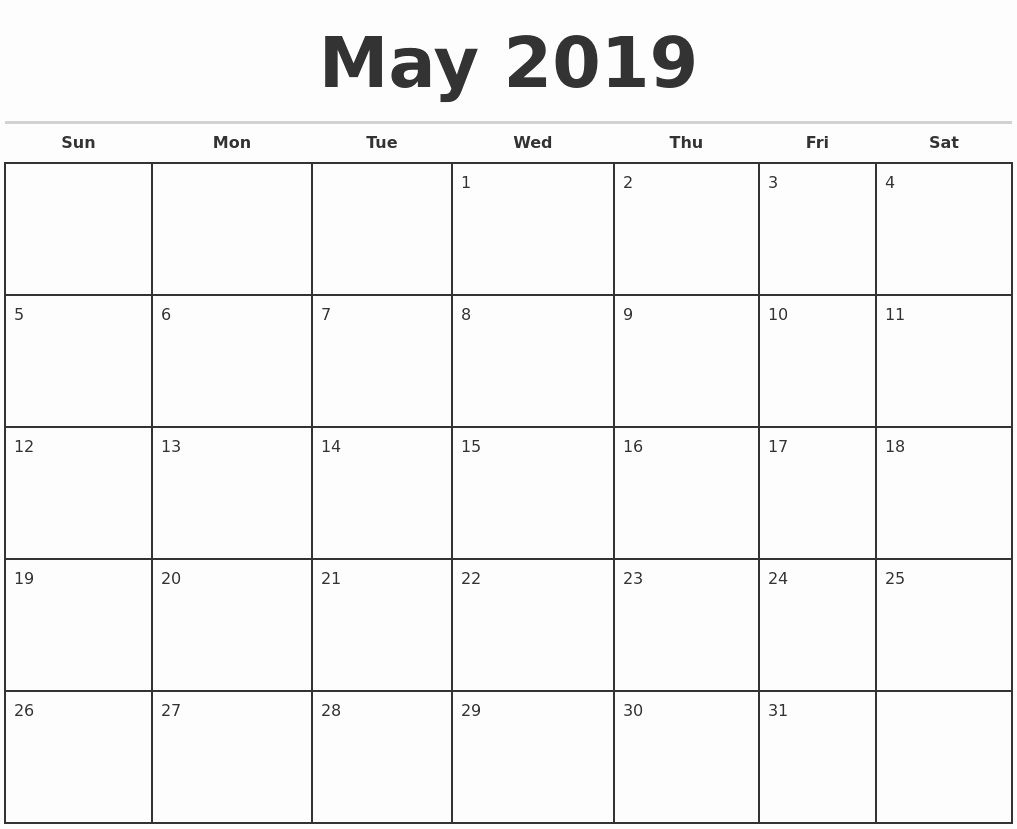Monthly Calendar To Print Free | Monthly Calendar Template Calendar Template To Print Free