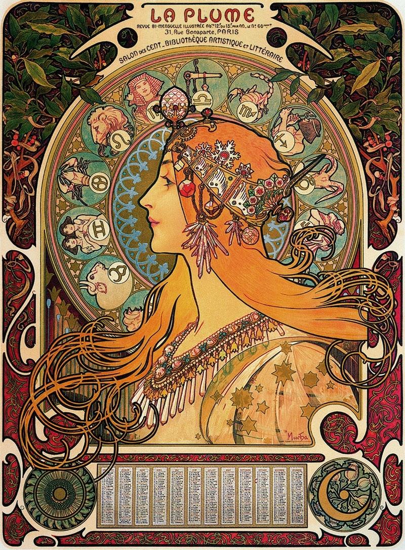 Mucha'S Zodiac – { Feuilleton } Zodiac Calendar By Alphonse Mucha