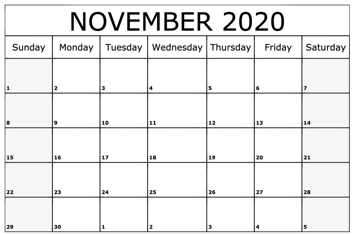 November 2020 Calendar Wallpapers - Top Free November 2020 Free Calendar Background Templates