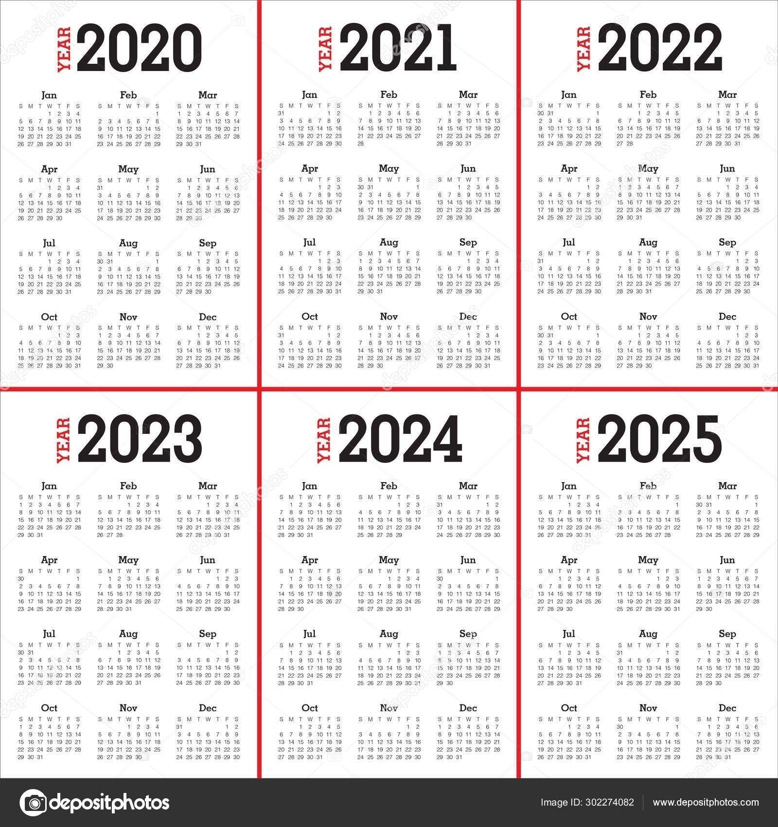 Pin On Calendar Ideas 5 Year Calendar Template