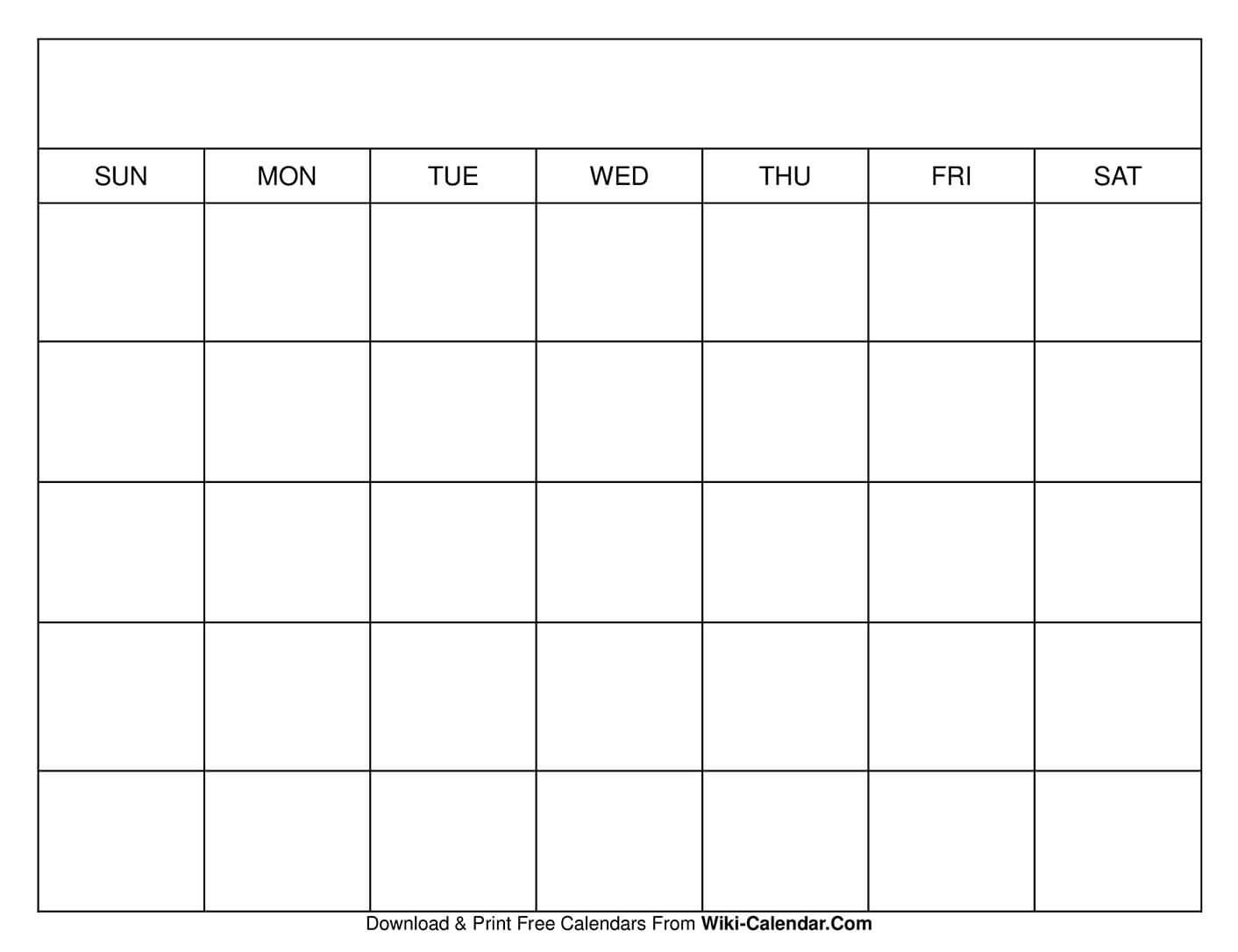 Printable Blank Calendar Templates Calendar Template Without Dates