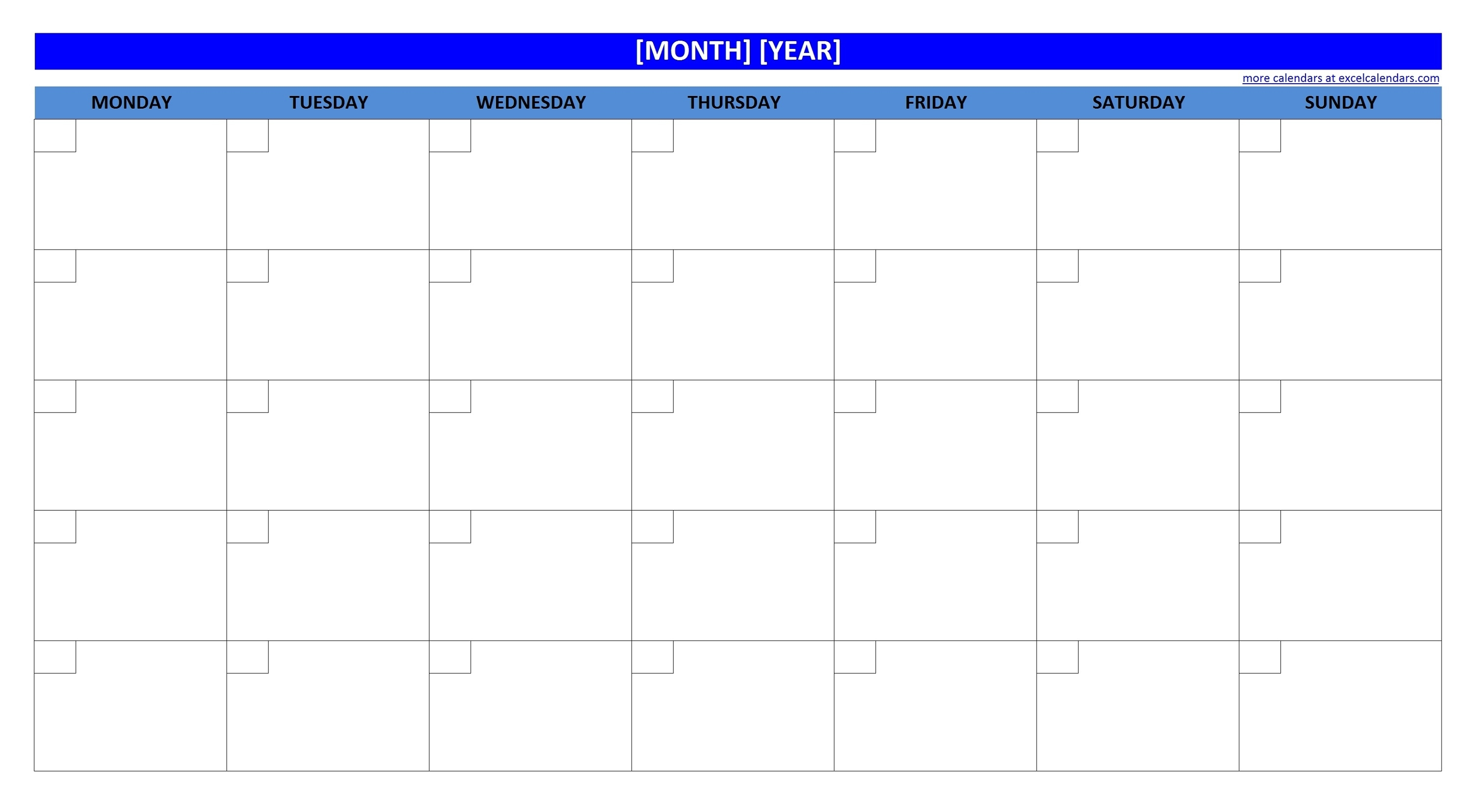 Printable Blank Monthly Calendar   Activity Shelter Calendar Template Without Dates