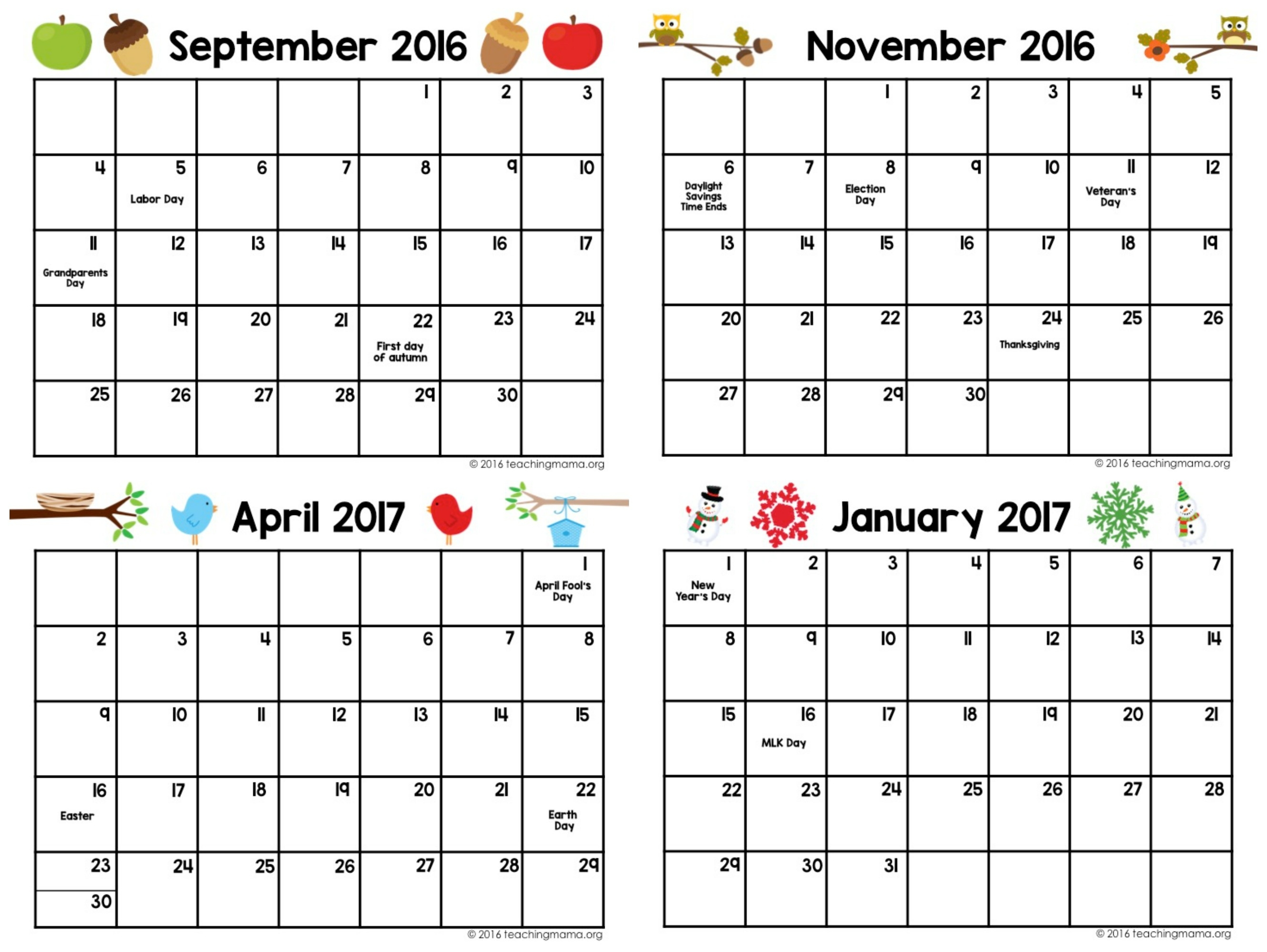 Printable Preschool Planner - On Sale Now! - Teaching Mama Free Pre K Calendar Template
