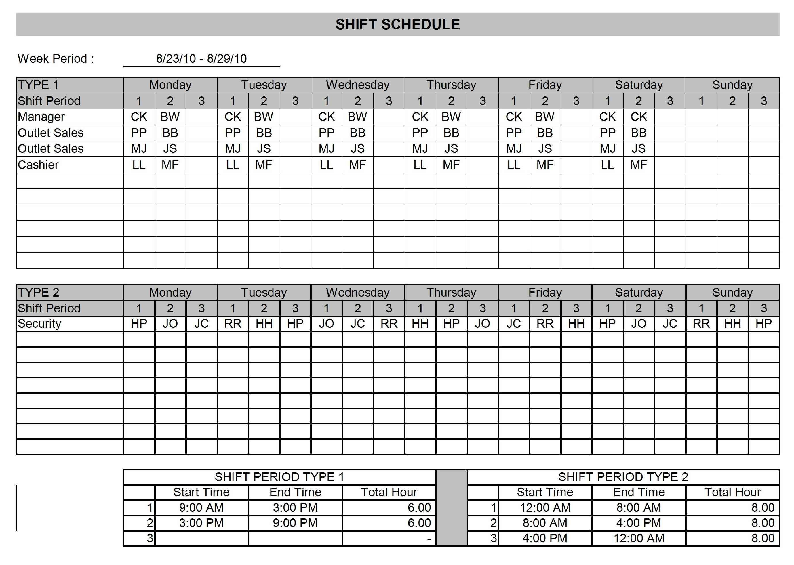 Shift Schedule | Open Office Templates Calendar Template Open Office