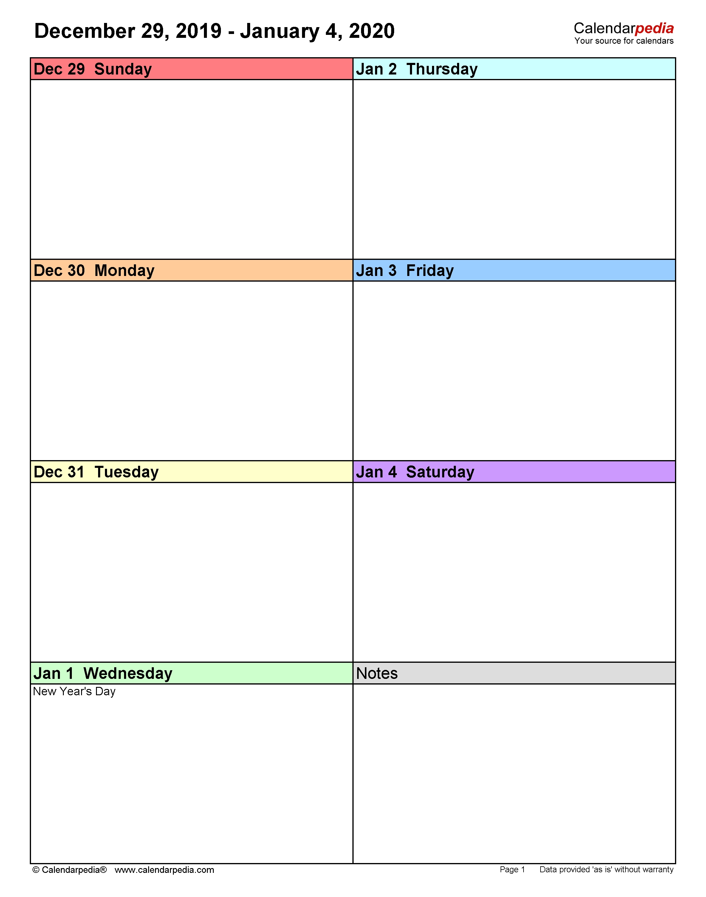 Weekly Calendars 2020 For Word - 12 Free Printable Templates 9 Day Calendar Template