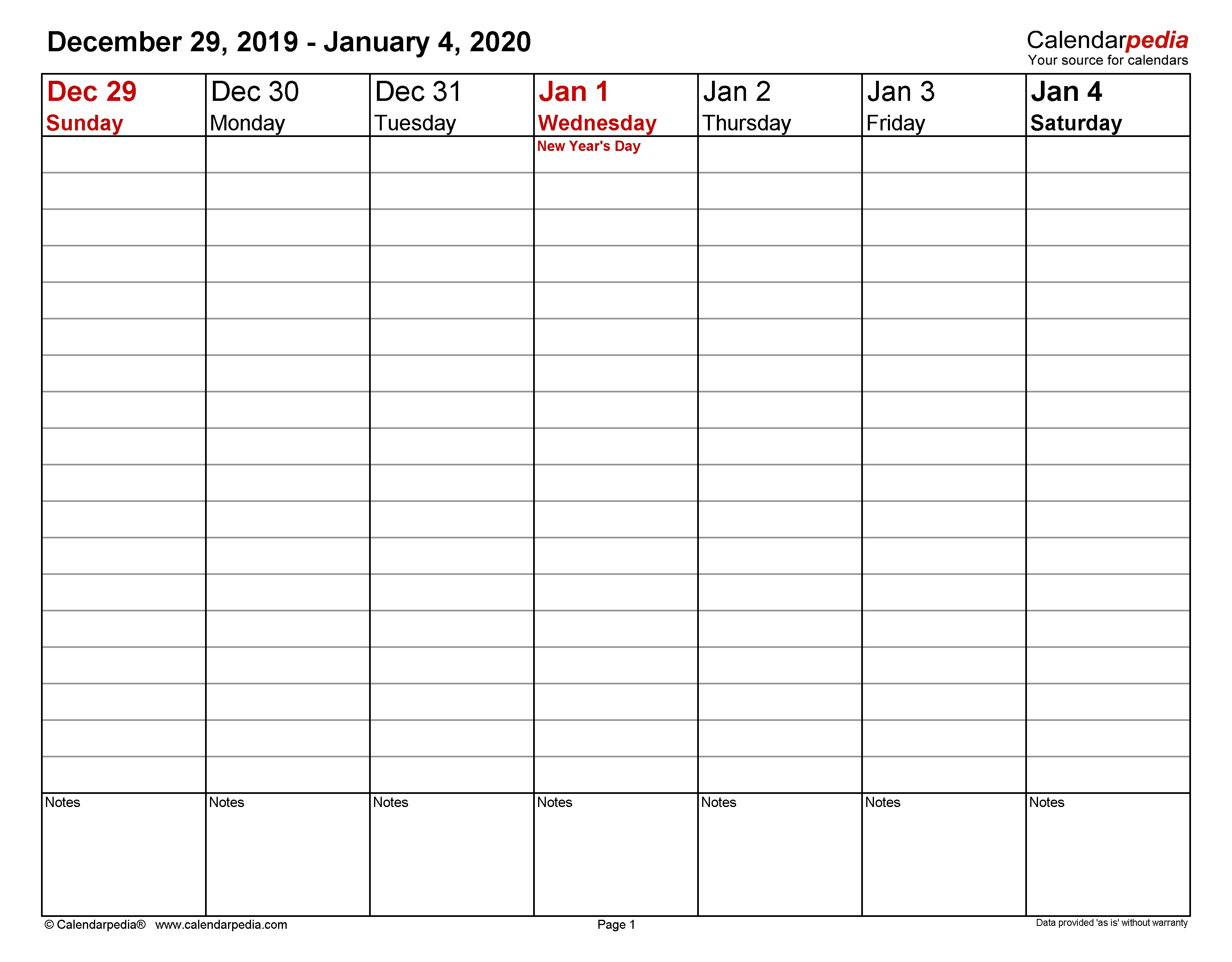 Weekly Calendars 2020 For Word - 12 Free Printable Templates Calendar Template Week View