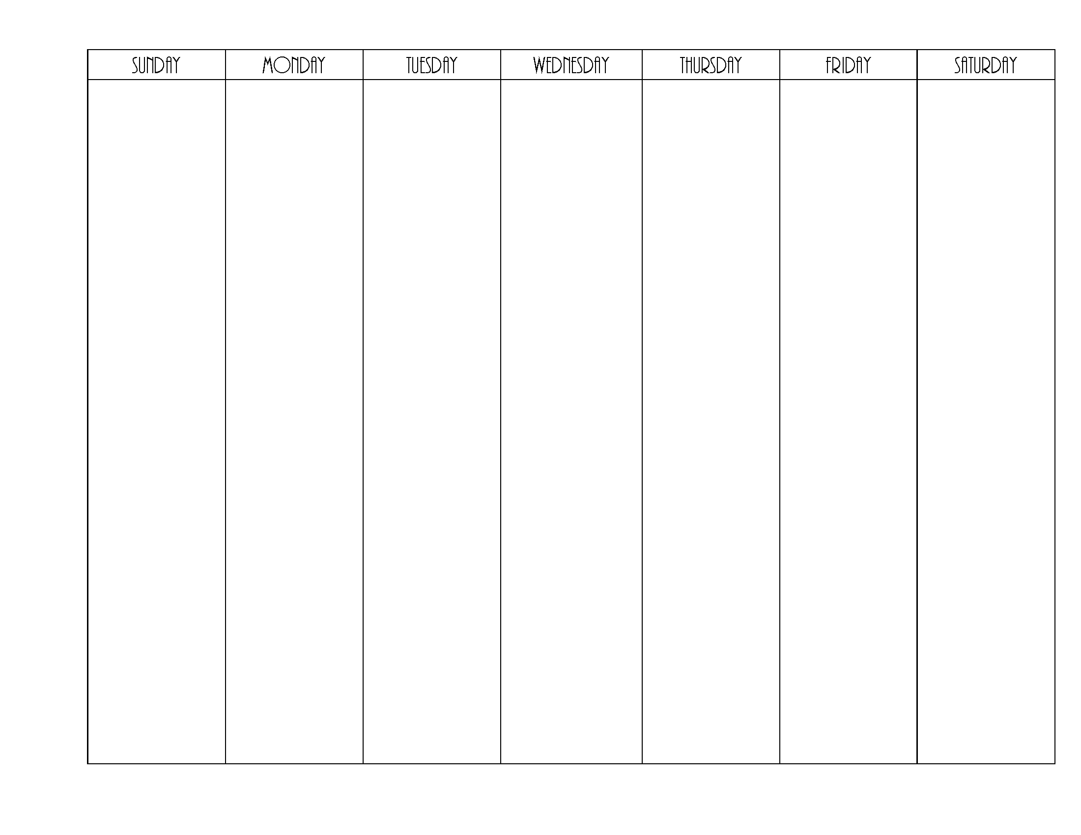 Weekly Planner Calendar Template One Week